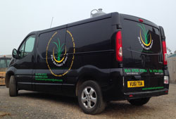 A photo of the Farm and Country Products Van