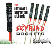 A advert for sky rockets